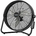 Lasko 20 in. High Velocity Floor Fan with QuickMount Wall-Mount and Remote Control, Black