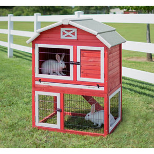 precision pet products old red barn rabbit hutch - Precision Pet Products