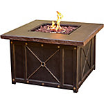Cambridge 40 in. Square Gas Fire Pit with Durastone Top