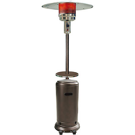Hanover 7 ft. 41,000 BTU Steel Umbrella Propane Patio Heater in Hammered Bronze