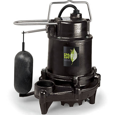 ECO-FLO 1/2 HP Cast Iron Sump Pump