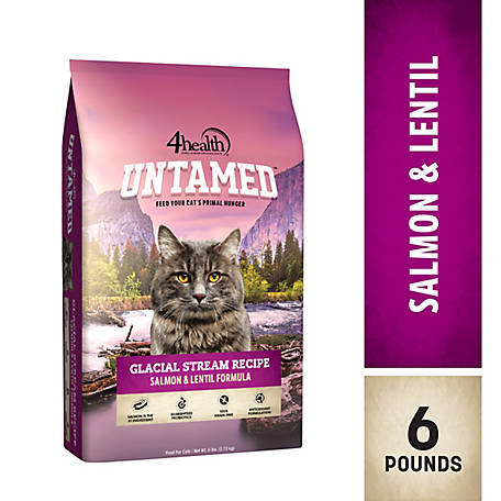 4health Untamed Glacial Stream Recipe Salmon & Lentil Formula Cat Food, 6 lb. Bag