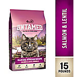 4health Untamed Glacial Stream Recipe Salmon & Lentil Formula Cat Food, 15 lb. Bag