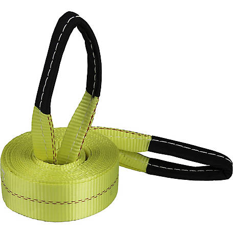 Python Recovery Strap with Reinforced Looped Ends, 10,000 lb. Break Strength