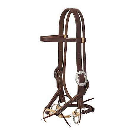 Weaver Leather Justin Dunn Bitless Bridle, Oiled Canyon Rose