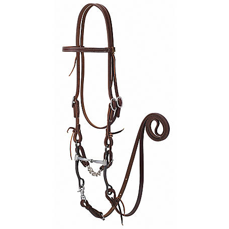 Weaver Leather Working Tack Bridle with Snaffle Mouth Bit
