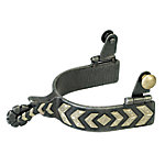 Weaver Leather Men's Spur with German Silver Chevron Trim