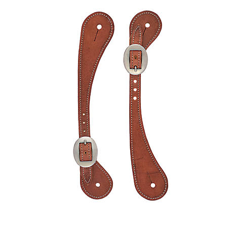 Weaver Leather Men's Shaped Oiled Harness Leather Spur Straps