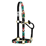 Weaver Leather Nylon Chevron Adjustable Chin and Throat Snap Horse Halter
