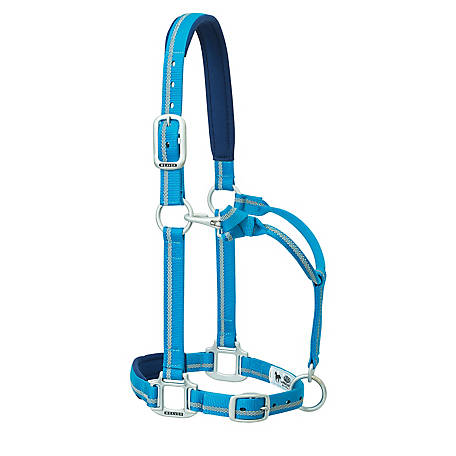 Weaver Leather Adjustable Padded Nylon Reflective Horse Halter