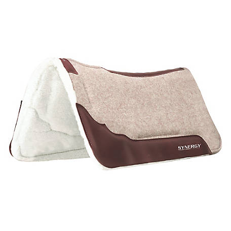 Weaver Leather Impact-Absorbing EVA Sport Foam 100% Wool Saddle Pad with Merino Wool Fleece Liner