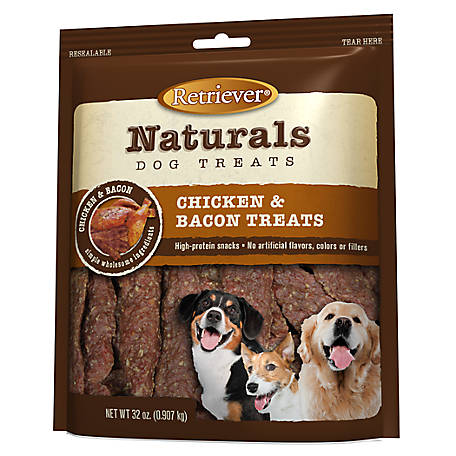 Retriever Naturals Chicken and Bacon Treats, 32 oz.