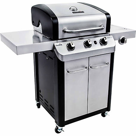 Char Broil Signature Series 3 Burner Cabinet 24k Btu Gas Grill 590 Sq In Total Cooking Area 463372017 At Tractor Supply Co