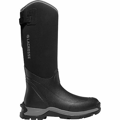 3487101d2f3 LaCrosse Footwear Men's Alpha Thermal 16 in. Black Rubber Boot at Tractor  Supply Co.