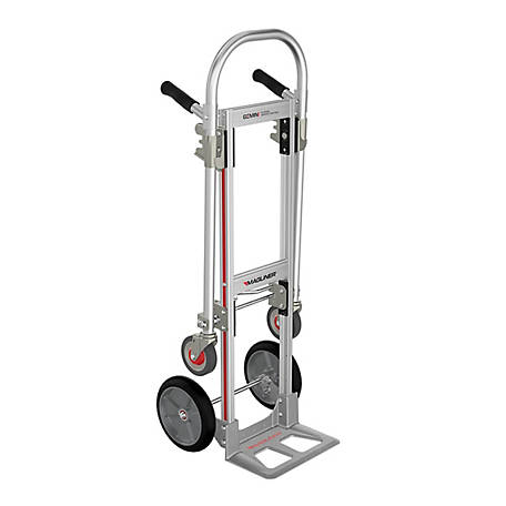 Magliner Gemini Jr. Convertible Hand Truck, 10 in. Balloon Cushion Rubber Wheels, 500 lb./1000 lb. Capacity.