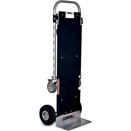 Magliner Gemini XL Convertible Hand Truck, U-Loop Handle, 10 in. 4-Ply Pneumatic Wheels, 500 lb./1250 lb. Capacity.