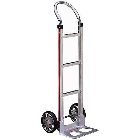 Magliner 2-Wheel Hand Truck with Straight Back Frame, U-Loop Handle, 8 in. Mold-on Rubber Wheels, 500 lb. Capacity