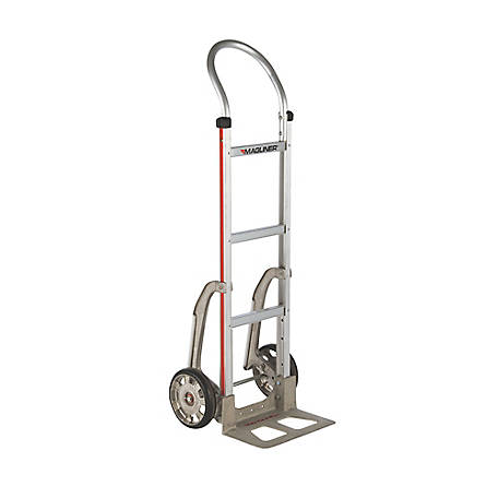 Magliner 2-Wheel Hand Truck with Straight Back Frame, U-Loop Handle, 8 in. Mold-on Rubber Wheels, C5 Stair Climbers, HMK111AA15