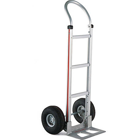 Magliner 2-Wheel Hand Truck with Straight Back Frame, U-Loop Handle, 10 in. 4-Ply Pneumatic Wheels, 500 lb. Capacity
