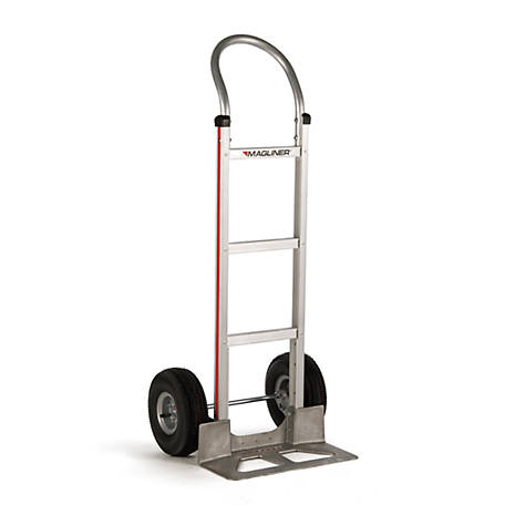 Magliner 2-Wheel Hand Truck with Straight Back Frame, U-Loop Handle, 8 in. Balloon Cushion Rubber Wheels, 500 lb. Capacity