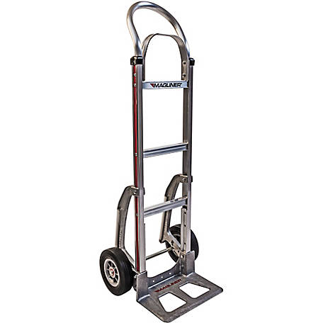 Magliner 2-Wheel Hand Truck with Straight Back Frame, U-Loop Handle with Brace, 8 in. Solid Rubber Wheels, C5 Stair Climbers