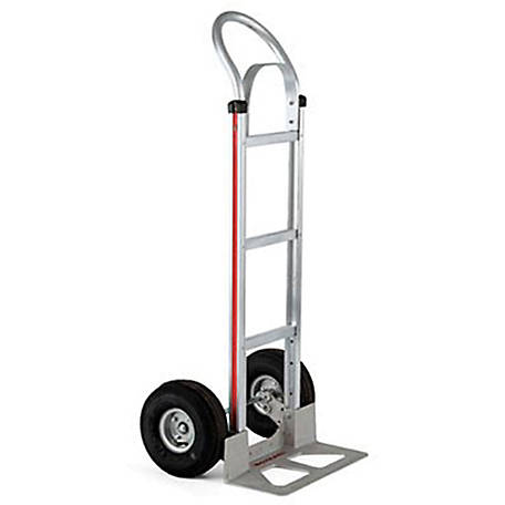 Magliner 2-Wheel Hand Truck with Straight Back Frame, U-Loop Handle with Brace, 10 in. 4-Ply Pneumatic Wheels, 500 lb. Capacity