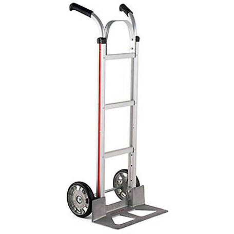 Magliner 2-Wheel Hand Truck with Straight Back Frame, Double Pistol Grip Handle, 8 in. Mold-on Rubber Wheels, 500 lb. Capacity