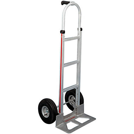 Magliner 2-Wheel Hand Truck with Straight Back Frame, Single Pistol Grip Handle, 10 in. 4-Ply Pneumatic Wheels, 500 lb. Capacity