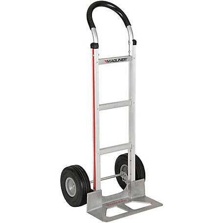 Magliner 2-Wheel Hand Truck with Straight Back Frame, U-Loop Handle, 10 in. Polyurethane Wheels, 500 lb. Capacity