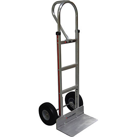 Magliner 2-Wheel Hand Truck with Straight Back Frame, 52 in. Vertical Loop Handle, 500 lb. Capacity