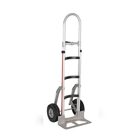 Magliner 2-Wheel Hand Truck with Curved Back Frame, 60 in. Single Pistol Grip Handle, 500 lb. Capacity