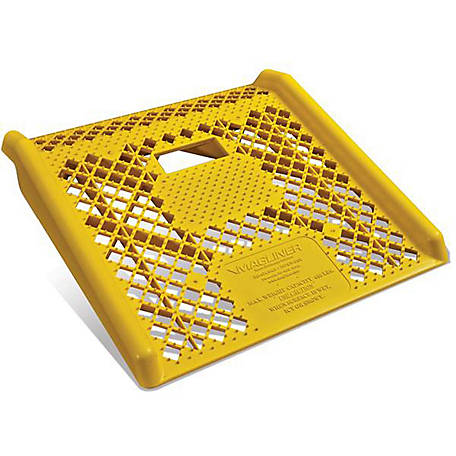 Magliner Engineered Plastic Non-folding Curb Ramp for Hand Truck Use, Yellow