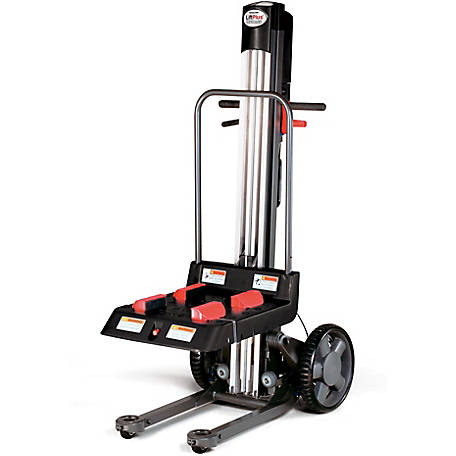 Magliner LiftPlus, 48 in. Lift Height, 14 in. Chassis with Adjustable Work Bench, 350 lb. Capacity
