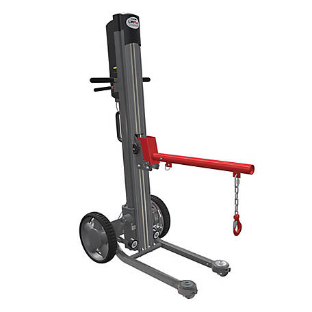 Magliner LiftPlus, 48 in. Lift Height, 14 in. Chassis, 24 in. Arbor, Adjustable Boom and Chain, 350 lb. Capacity