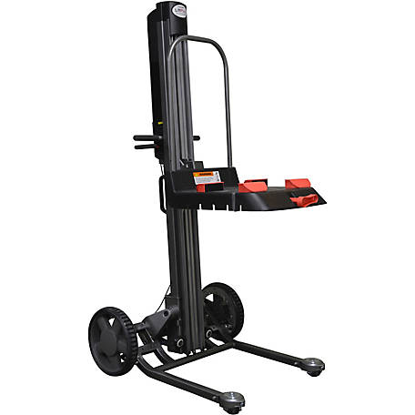 Magliner LiftPlus, 60 in. Lift Height, 25 in. Chassis with Adjustable Work Bench, 350 lb. Capacity