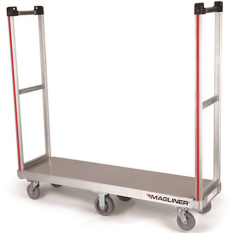 Magliner Commercial Bulk Delivery Truck with Removable Handles, Gray Non-Marking Casters, Deck Sheet, 1,200 lb. Capacity.