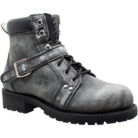 Ride Tecs Men's 6 in. Stonewash Zipper Lace Boot