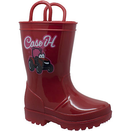 Case IH Kids' Tractor Light-Up Rain Boot