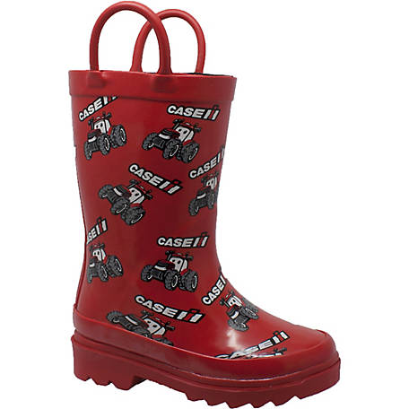 Case IH Toddler's Big Red Tractor Rain Boot