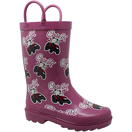 Case IH Toddler's Lil Pink Tractor Rain Boot