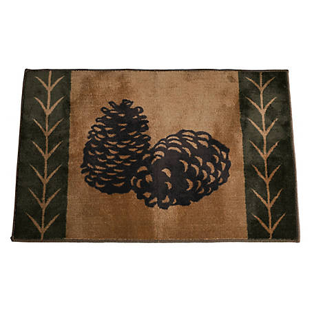 HiEnd Accents Pine Cone Rug, 24 in. x 36 in.