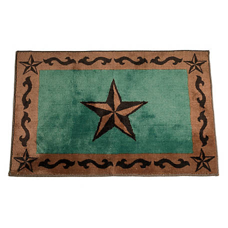 HiEnd Accents Star Print Rug, 24 in. x 36 in., Turquoise