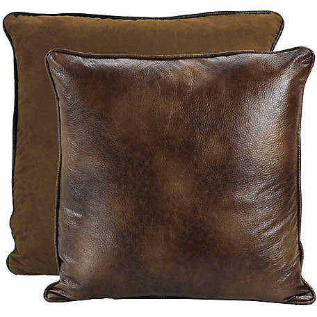 HiEnd Accents Brown Faux Euro Sham, 27 in. x 27 in.