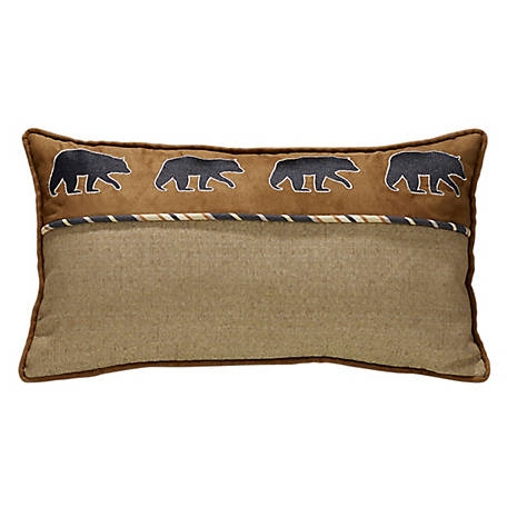 HiEnd Accents Black Bear Pillow, 20 in. x 27 in.