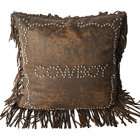 HiEnd Accents Cowboy Studded Pillow, 18 in. x 18 in.