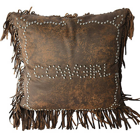 HiEnd Accents Cowgirl Studded Pillow, 18 in. x 18 in.