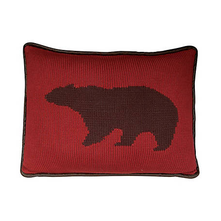 HiEnd Accents Knitted Pillow, 16 in. x 21 in., Bear