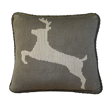 HiEnd Accents Knitted Pillow, 16 in. x 21 in., Deer