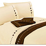 HiEnd Accents Embroidered Star Sheet Set