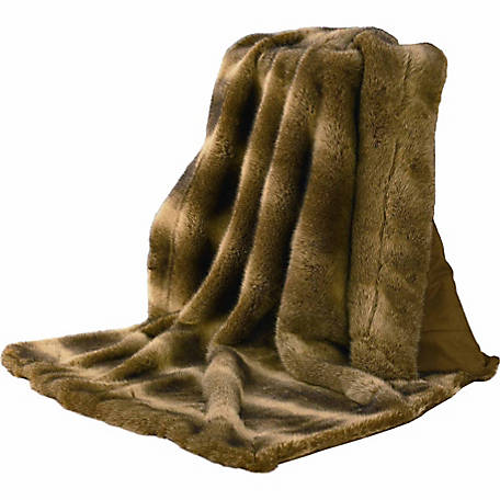 HiEnd Accents Faux Fur Throw Wolf